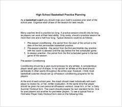 blank basketball practice plan template