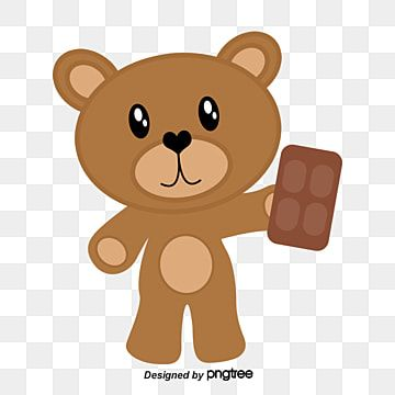 Eat Chocolate Bear Vector Material Cute Bear Hand Painted Bear Png Transparent Clipart Image And Psd File For Free Download Disney Phone Wallpaper Cute Bears Baby Cartoon