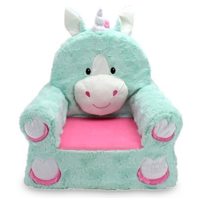 The Sweet Seats Unicorn Soft Chair Not Only Gives Your Child A Comfy And Cozy Place To Relax But Gives Them A New Pla Character Chairs Plush Chair Kids Chairs
