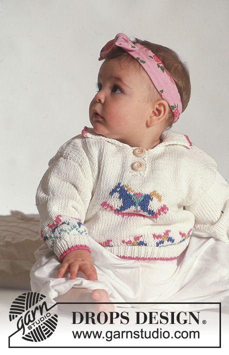 Drops Jumper With Rocking Horse Motif In Muskat Boy Crochet Patterns Baby Knitting Patterns Free Knitting Patterns Free Cardigans