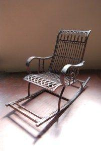Sedia A Dondolo In Ferro Battuto.Sedia A Dondolo In Ferro Battuto Rocking Chairs