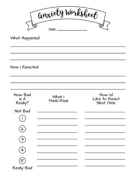 Bullet Journal Anxiety Printables Bundle Anxiety Tracker | Etsy