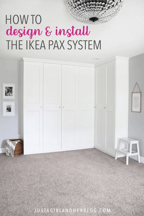 Creating An Organized Office With The Ikea Pax System Bedroom Storage For Small Rooms Build A Closet