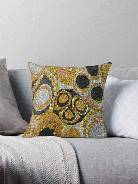 Gold  Throw Pillow by sharonperryart in 2018  a5d9aa2fc8