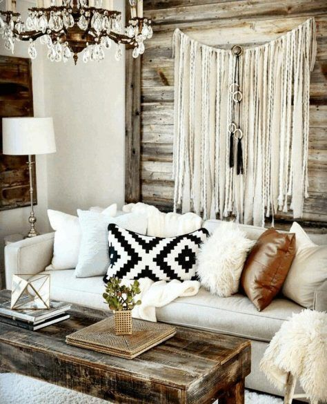 Living Room Bohemian Style Decorating Images White Lacquered Wood