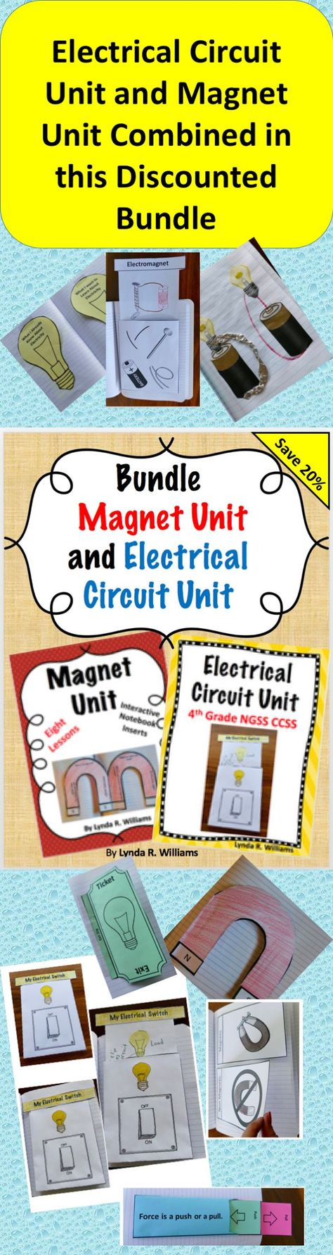 List Of Pinterest Maggets Science 4th Grade Interactive Notebooks Electric Circuits Magnetism And Electricity Bundle Magnets 3 Ps2 4