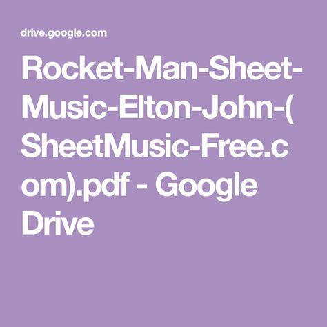 Rocket Man Sheet Music Elton John Sheetmusic Free Com Pdf
