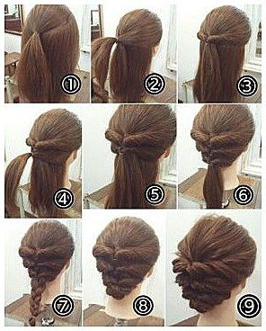 Cool 50 Cool Braids That Are Actually Easy Braids Can Make Different Hairstyles A Lot M Up Dos For Medium Hair Hair Tutorials Easy Easy Updos For Medium Hair