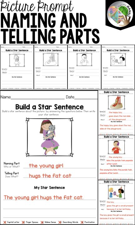Sentence Structure - Naming and Telling Parts of a Sentence ...