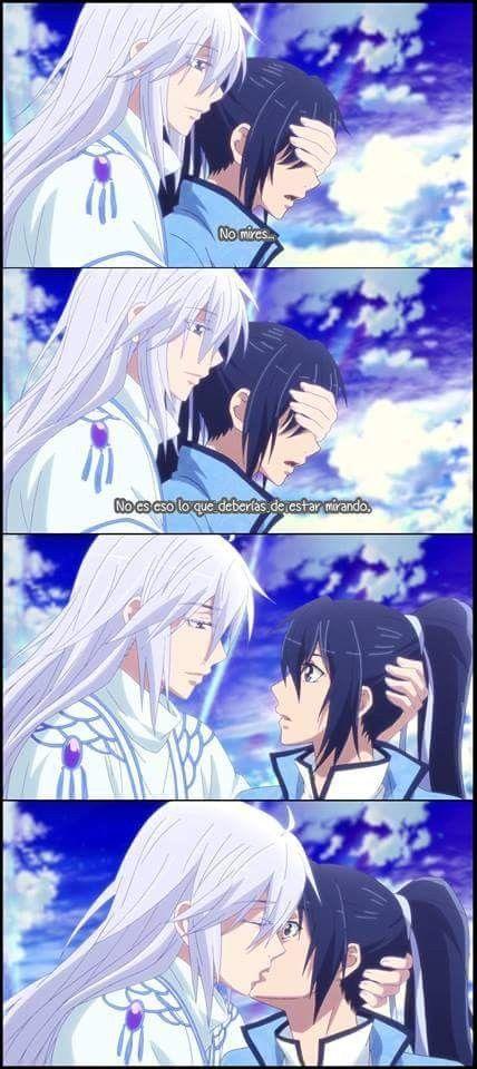 Soul Contract Spiritpact Arte De Anime Anime Besos
