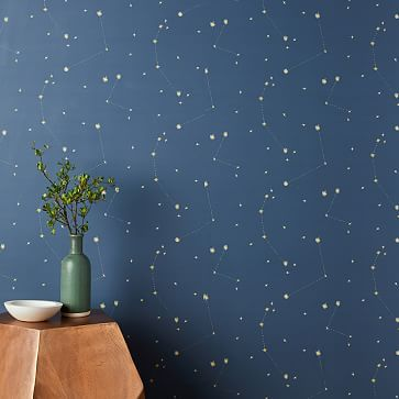 Chasing Paper Constellation Map Removable Wallpaper Navy Chasing Paper Map Wallpaper Wallpaper Accent Wall