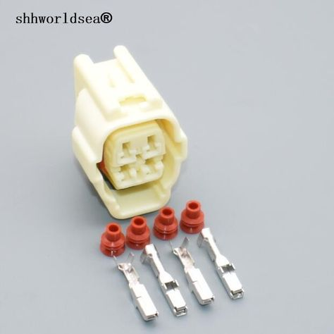 Shhworldsea 4 pin 2.2mm 4 way car auto Oxygen Sensor Plug electric on 4 pin relay, 4 pin usb cable, 4 pin spark plug, 4 pin power supply, 4 pin power cord,