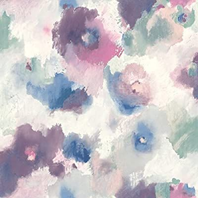 Haokhome 93005 2 Peel And Stick Watercolor Floral Wallpaper White Pink Green Navy Blue Or Watercolor Floral Wallpaper Floral Wallpaper Peel And Stick Wallpaper