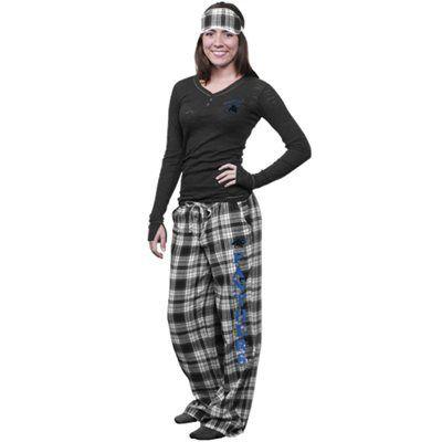 3159e46d Carolina Panthers Ladies Crossroad Burnout Pajama Sleep Set With ...