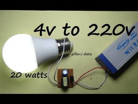 How To Make A Simple 3 7v To 220v Ac To Dc Power Inverter At Home Diy Youtube Electronics Projects Diy Diy Electronics Electronic Circuit Projects
