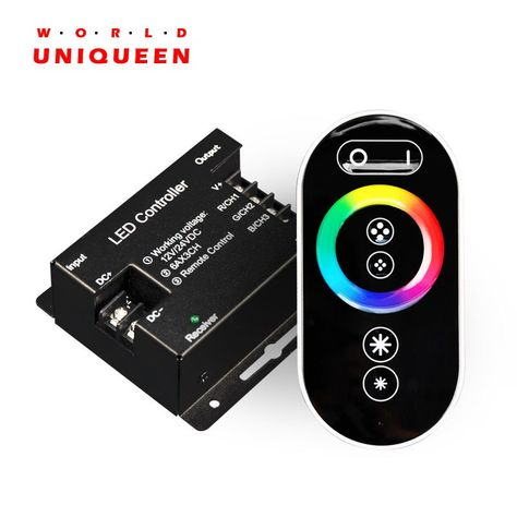 Universe Of Goods Buy Cheapest New 433mhz Led Lighting Rgb Controller With Full Color Rf Touch Remote Dc12v 24v 3 Channels Led Lights Cool Things To Buy Led