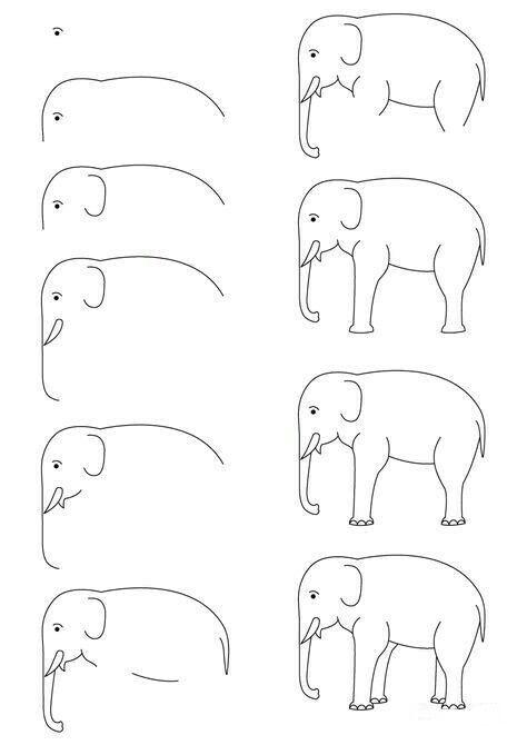 Aprende A Dibujar Un Elefante Facil Y Sencillo Con Imagenes