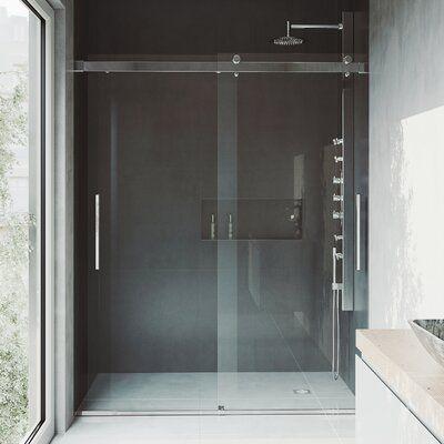 Caspian 61 X 73 5 Double Sliding Frameless Shower Door Finish