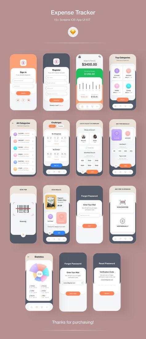 Expense Tracker - Financial iOS App UI KIT