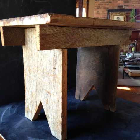 Small Bench Made Of Barnsiding And Boot By Milkweedvintagehome 45 00 Small Bench Wood Rustic Bench