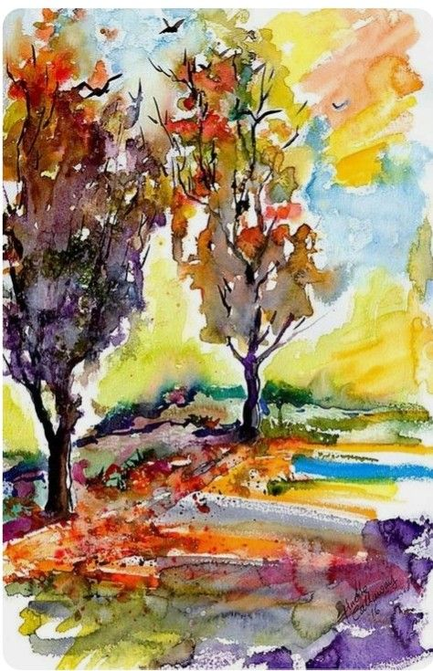 Pin By Carol Cahill On Watercolors Ii Oil Painting Nature