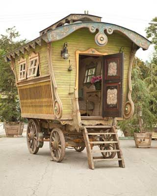"""Caravan Gypsy Vardo Wagon: A wagon. """"Have I not commanded you? Be strong and courageous. Do not be afraid; do not be discouraged, for the Lord your God will be with you wherever you go."""" (Joshua NIV) I've been wanti…"""