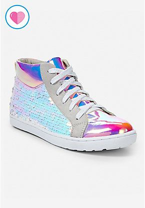 cheap autumn shoes online retailer Holographic High Top Sneakers in 2019 | 10 years girl, 10 ...