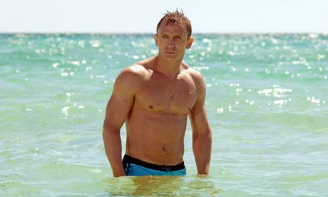 Wear - Men's swimwear dos and don'ts - Daniel Craig in Casino Royal wore tight trunks but with a deep cut, in a bright blue.