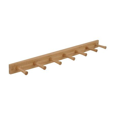 Home Peg Wall Wood Rack Wall Mounted Coat Rack