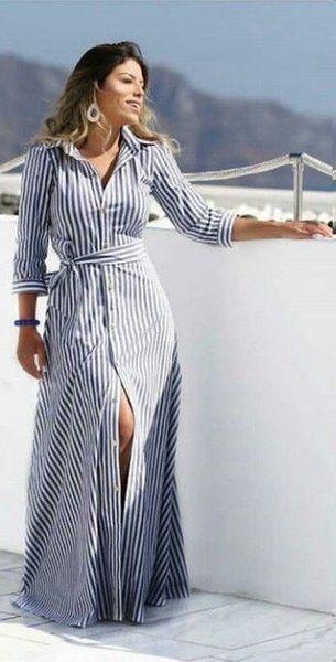 Стиле в пол simple gowns, unique dresses, stripes fashion, denim fashion, c