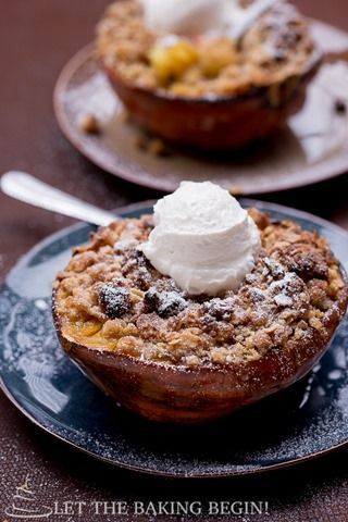 Acorn Squash With Apple Cranberry Stuffing Walnut Oat Crumble By