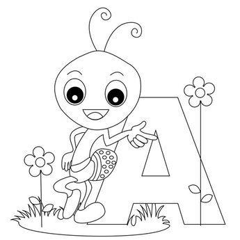 Image Result For Color In Ant Alphabet Malvorlagen Abc Malvorlagen Animal Alphabet