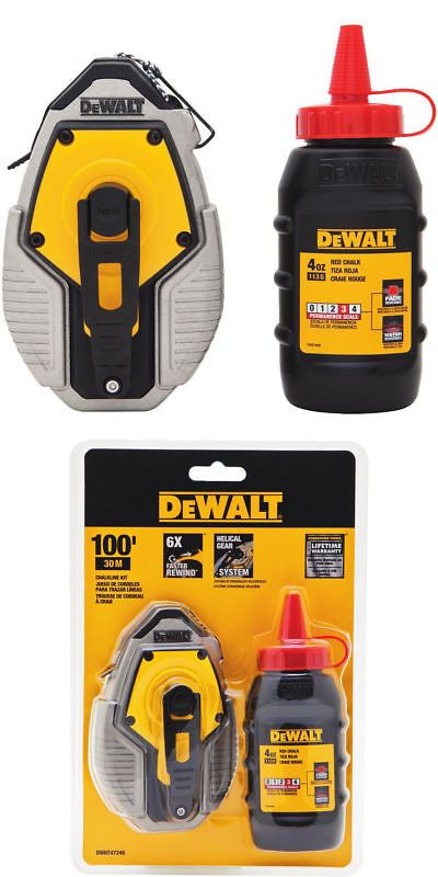 Chalk Lines And Marking Tools 178968 Dewalt 6 1 Ergonomically Designed Chalk Reel With Red Chalk Dwht47376l New Buy It Now Only Dewalt Marking Tools Ebay