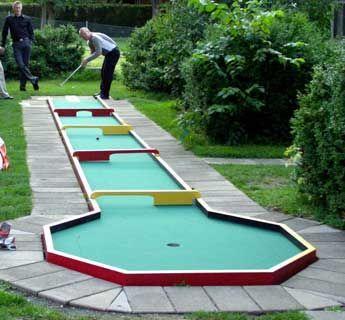 Mini Golf Obstacles Mini Golf Ideas For Your Backyard Miniaturegolf Backyard Diyproject Diy Miniature Golf Course Miniature Golf Golf Courses