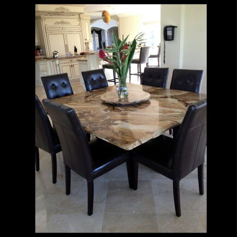I would love a granite table- so much easier to take care of ...