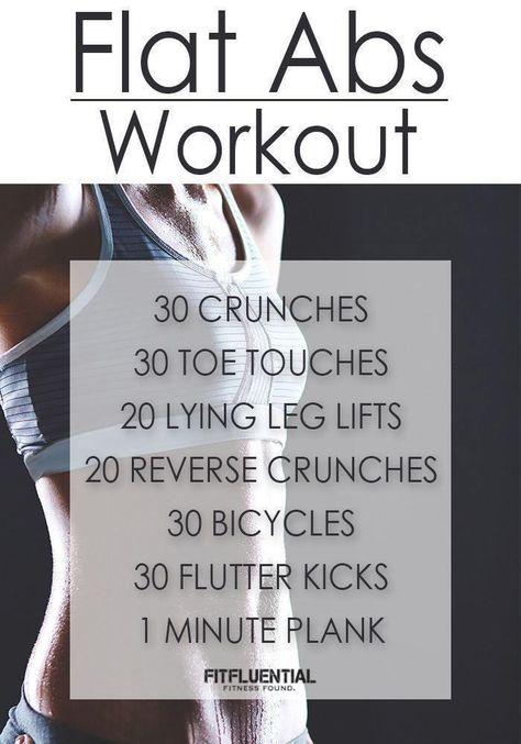 Fitness Motivation : Illustration Description FitFluential Flat Abs Workout -Read More – Workout Cardio, Flat Abs Workout, Abs Workout Routines, Ab Workout At Home, Abs Workout For Women, At Home Workouts, Workout Fitness, Workout Tips, Quick Ab Workout