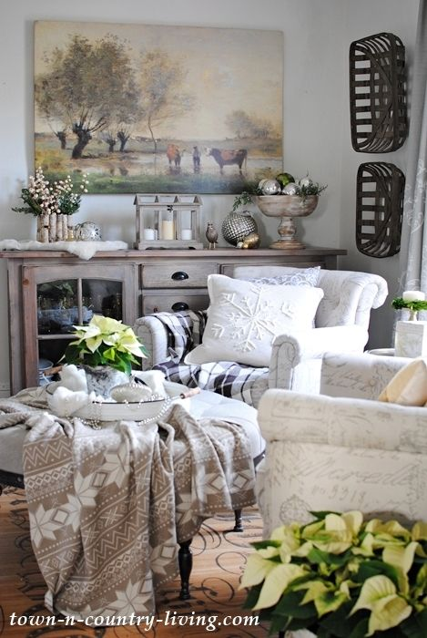 Country Style Christmas Home Tour Town Country Living Country House Decor Home Decor Country Cottage Decor