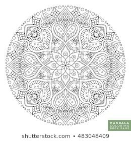 Flower Mandala Vintage Decorative Elements Oriental Pattern Vector Illustration Islam Arabic Indian Moroccan Sp Mandala Szinezo Szinezolapok Mandala Art