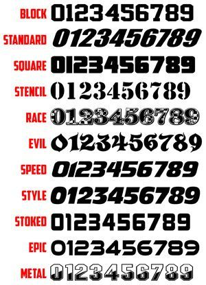 Pin By Nikki Watters On Salao Barbearia In 2021 Number Fonts Number Tattoo Fonts Numbers Font