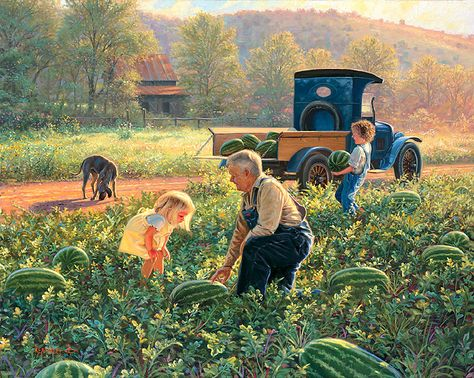 Mark Keathley 's Watermelon Patch - fine art prints published by Newmark Publishing.