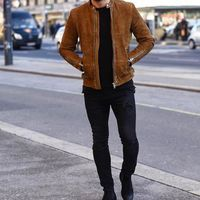 Men Tan brown fashion suede jacket, Men biker style casual fashion jacket · Rangoli Collection · Online Store Powered by Storenvy