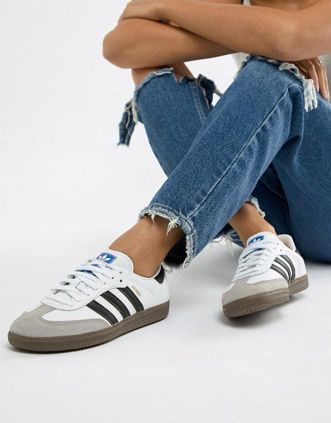 adidas Originals Samba Og Sneakers In White And Black (con ...
