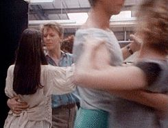 A beautiful gif-set showing David Bowie and Jennifer Connelly rehearsing for the ballroom scene.