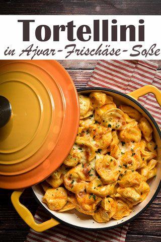 Tortellini. Mit Ajvar-Frischkäse-Soße. - mix dich glücklich - Thermomix-Rezepte für Food  Non Food (Essen, Kosmetik, Putzmittel etc.)