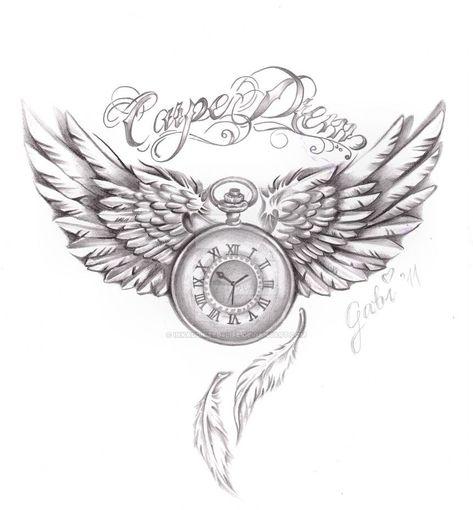 carpe diem tattoo commision by inkaddicted4life on DeviantArt