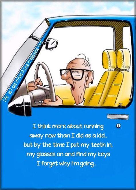 Elderly Cartoon Humor | ... Old, Senior Citizen Humor - Old age jokes cartoons and funny photos