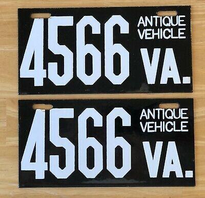 Va Virginia License Porcelain Plate