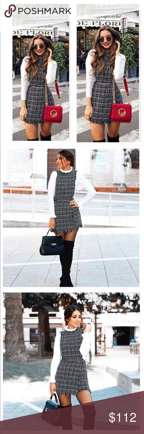 d5239aa498a BLOGGERS FAV!! GORGEOUS ZARA NWT Tweed Jumpsuit New w tags Zara Pants  Jumpsuits   Rompers