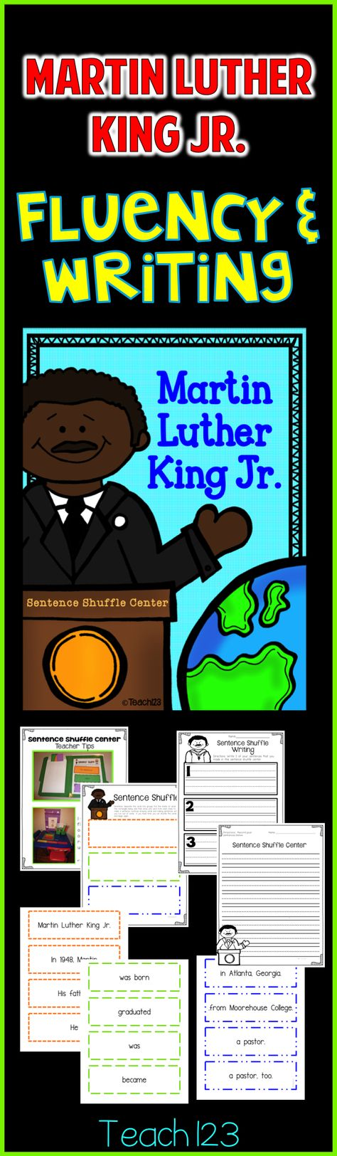 Martin Luther King Jr. - Students will learn facts about MLK while strengthening their fluency and writing skills.  This is also a great activity for your early finishers!  paid