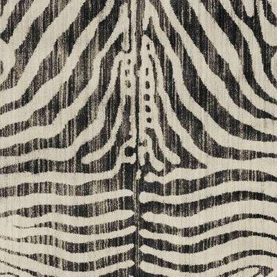 5 X7 Zebra Stripe Woven Area Rug Black